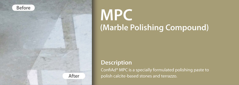 MPP (marble Polishing Powder) is formulated for the professional user. MPP is a polishing powder based on oxalates and special additives.